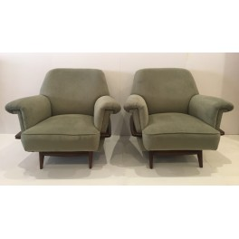 Pair Mid Century Italian club chairs  c.1960