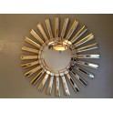 Gilded sunburst wall mirror c. 1960  'SOLD'