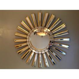 Gilded sunburst wall mirror c. 1960