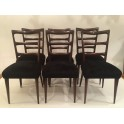 Set 6 Italian Mid Century dining chairs c. 1940 ' SOLD'