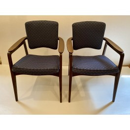 Pair Sigvard Bernadotte arm chairs c. 1960