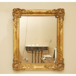 Fr. gold leaf frame mirror c.1870