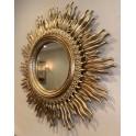Gilt Sunburst hand carved mirror c 1970