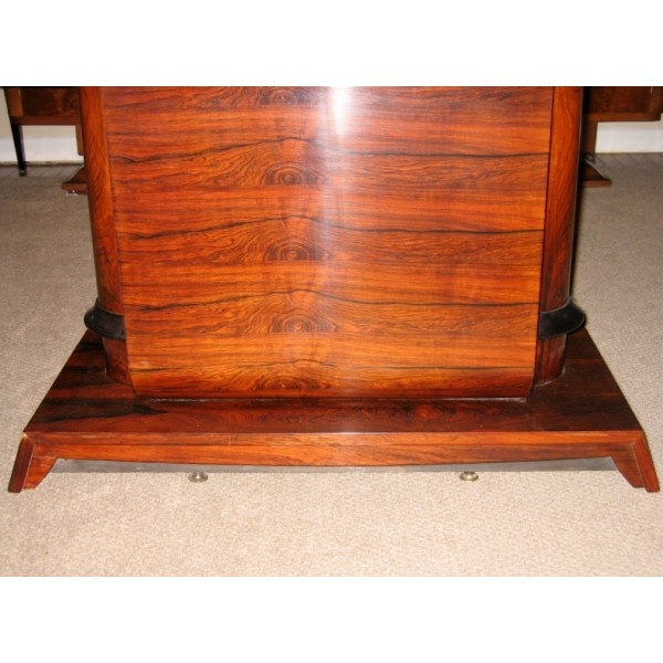 1930s art deco rosewood dining table c 1930s art deco rosewood dining