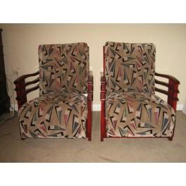 Pr. Art Deco lounge chairs c. 1938