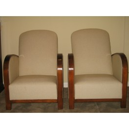 Pair Art Deco club chairs c. 1930's