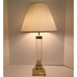Pair Mid Century Lucite lamps c. 1960's
