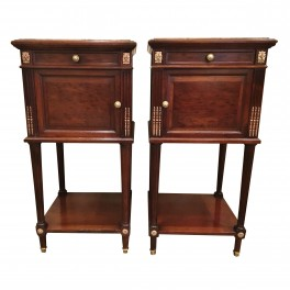 Pr. Louis XVI mahogany nightstands  c. 1890