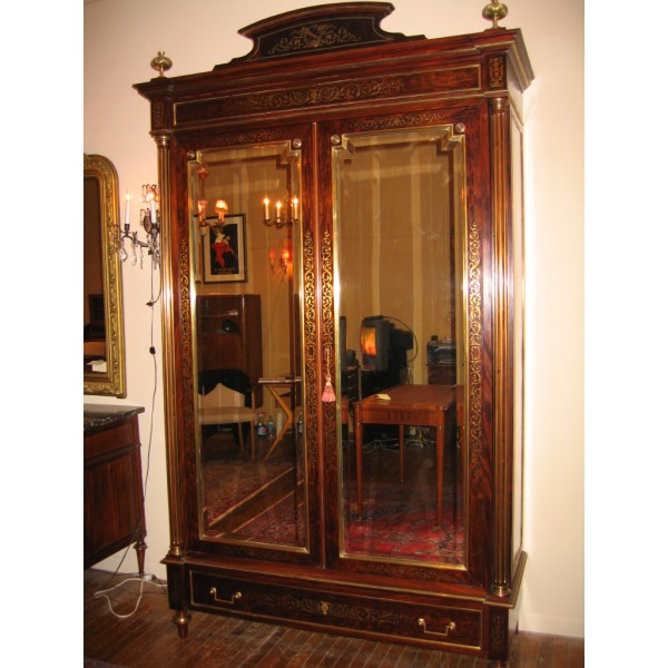 louis xvi armoire c 1880. Black Bedroom Furniture Sets. Home Design Ideas